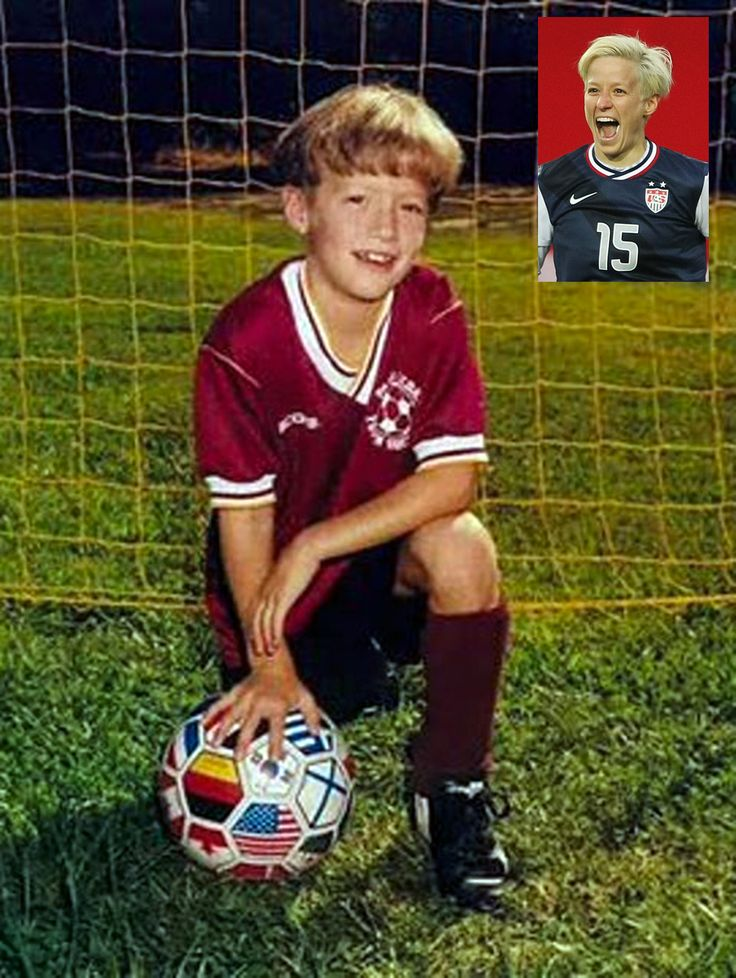 Megan Rapinoe childhood photo one at Pinterest.com
