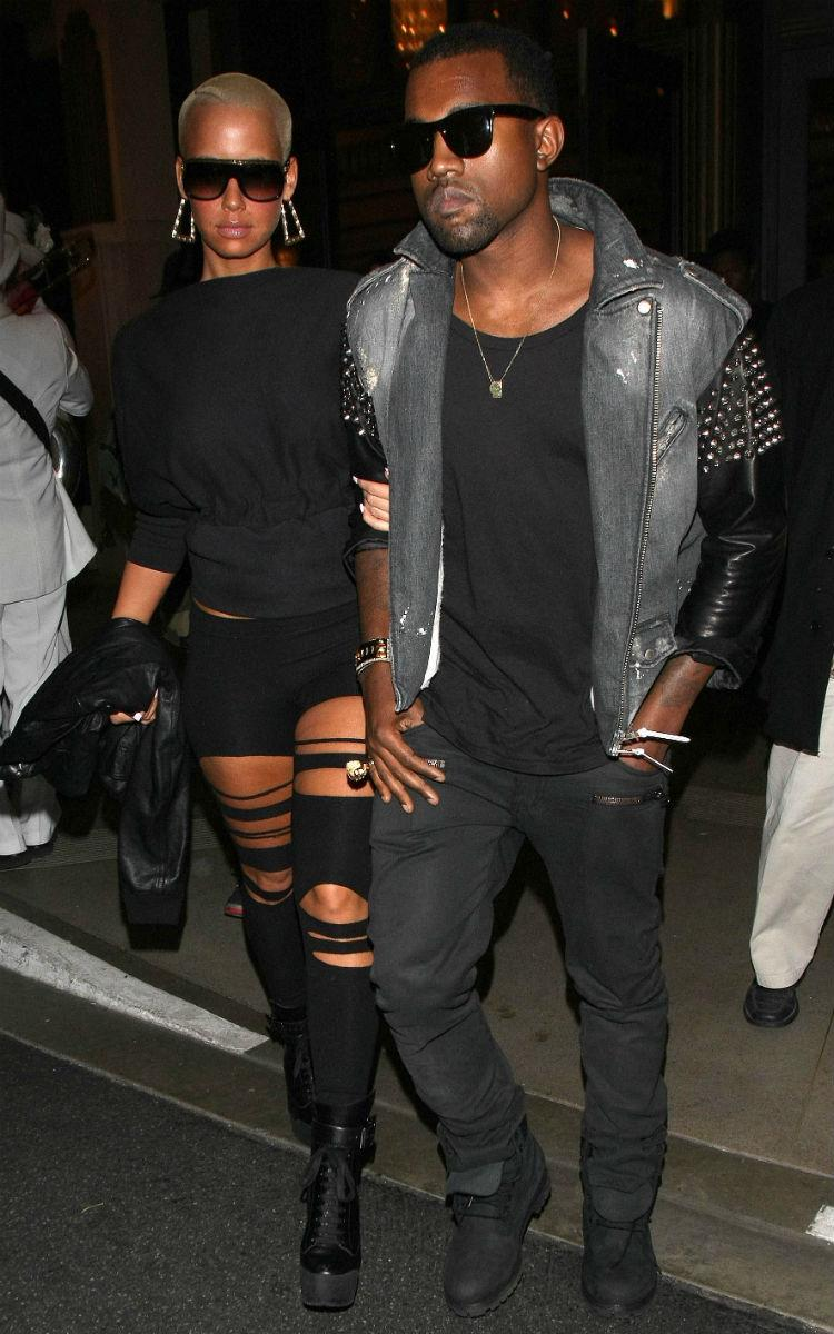 Kanye West with ex Amber Rose