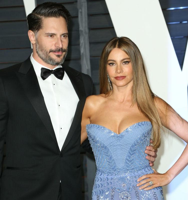 Sofia Vergara with fiance Joe Manganiello at Vanity Fair Oscars party