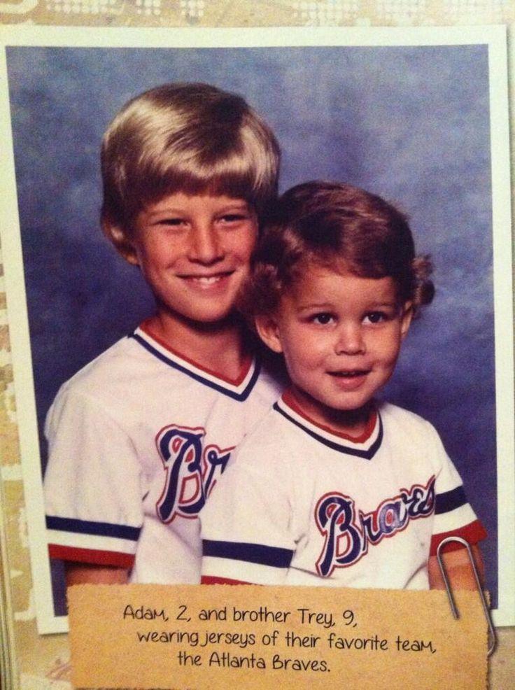 Adam Wainwright, foto de infância um em pinterest.com