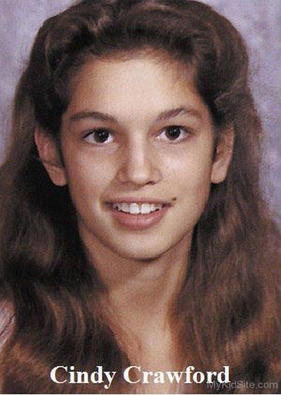 Cindy Crawford kindertijd foto een via mykidsite.com