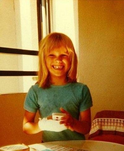 Diane Kruger childhood photo one at pinterest.com
