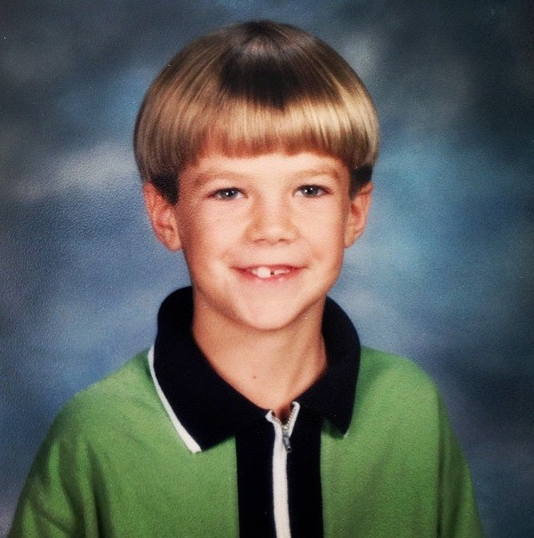 Grant Gustin childhood photo one at ibtimes.co.in