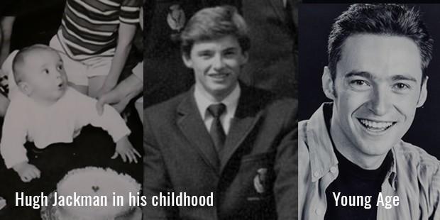 Hugh Jackman childhood photo one at Successstory.com