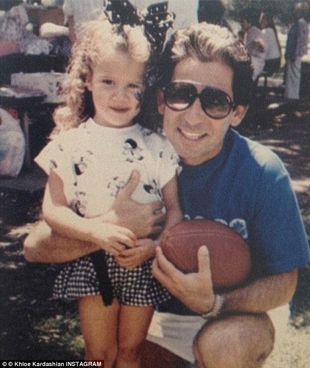 Khloe Kardashian childhood photo one at dailymail.co.uk
