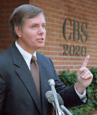 Lindsey Graham younger photo one at uselectionatlas.org