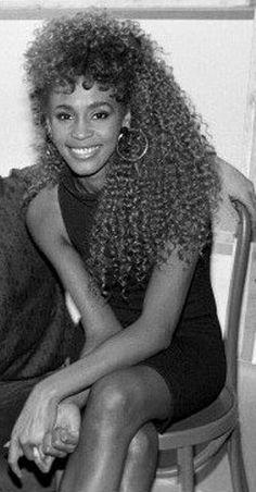 Whitney Houston younger photo one at pinterest.com