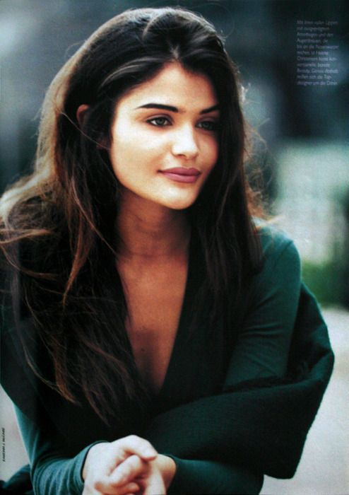 Helena Christensen younger photo one at Pinterest.com
