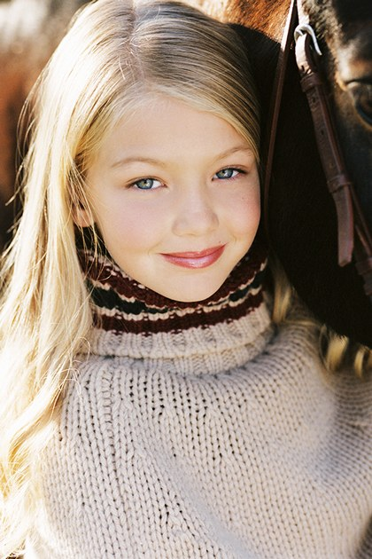 Gigi Hadid kindertijd foto een via Teenvogue.com