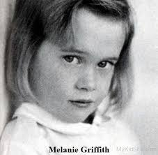 Melanie Griffith childhood photo one at mykidsite.com