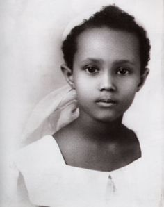 Iman Abdulmajid childhood photo one at Pinterest.com