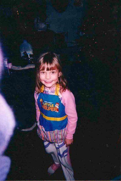 Karlie Kloss kindertijd foto twee via Pinterest.com