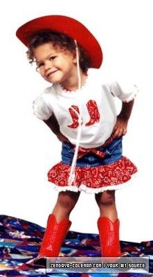 Zendaya childhood photo two at Pinterest.com