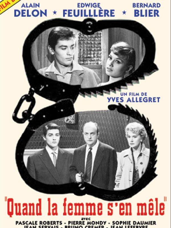 Alain Delon first movie:  Send a Woman When the Devil Fails