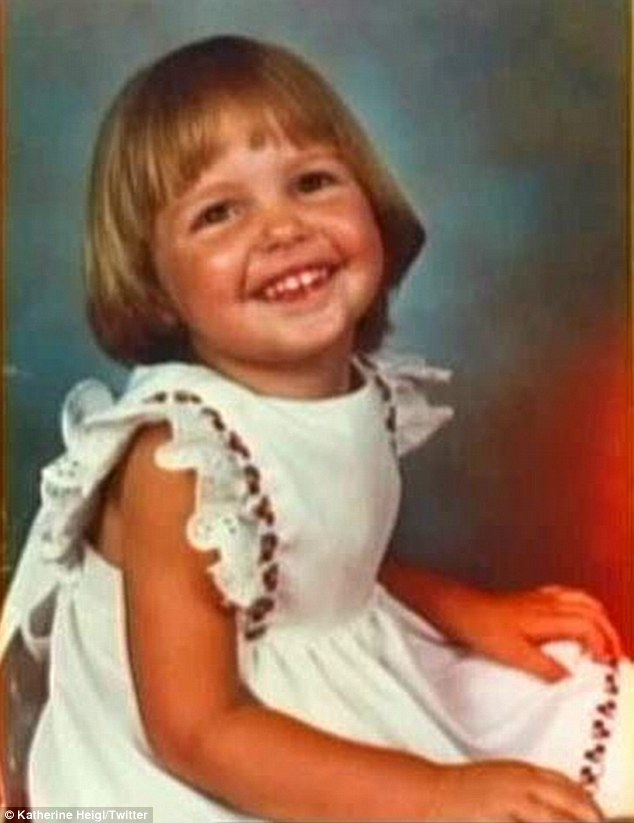 Katherine Heigl childhood photo one at dailymail.co.uk