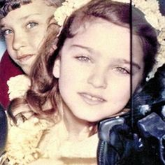 Madonna childhood photo three at Pinterest.com