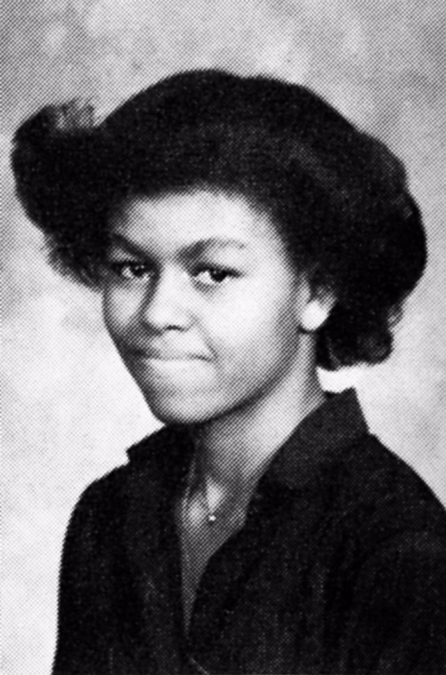 Michelle Obama jaarboek foto een via Vintag.es at Vintag.es