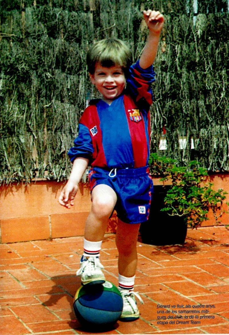 Gerard Piqué childhood photo one at Footballplayerschildhoodpics.blogspot.ro