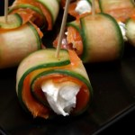 Cucumber, Smoked Salmon and Cream Cheese Roulades