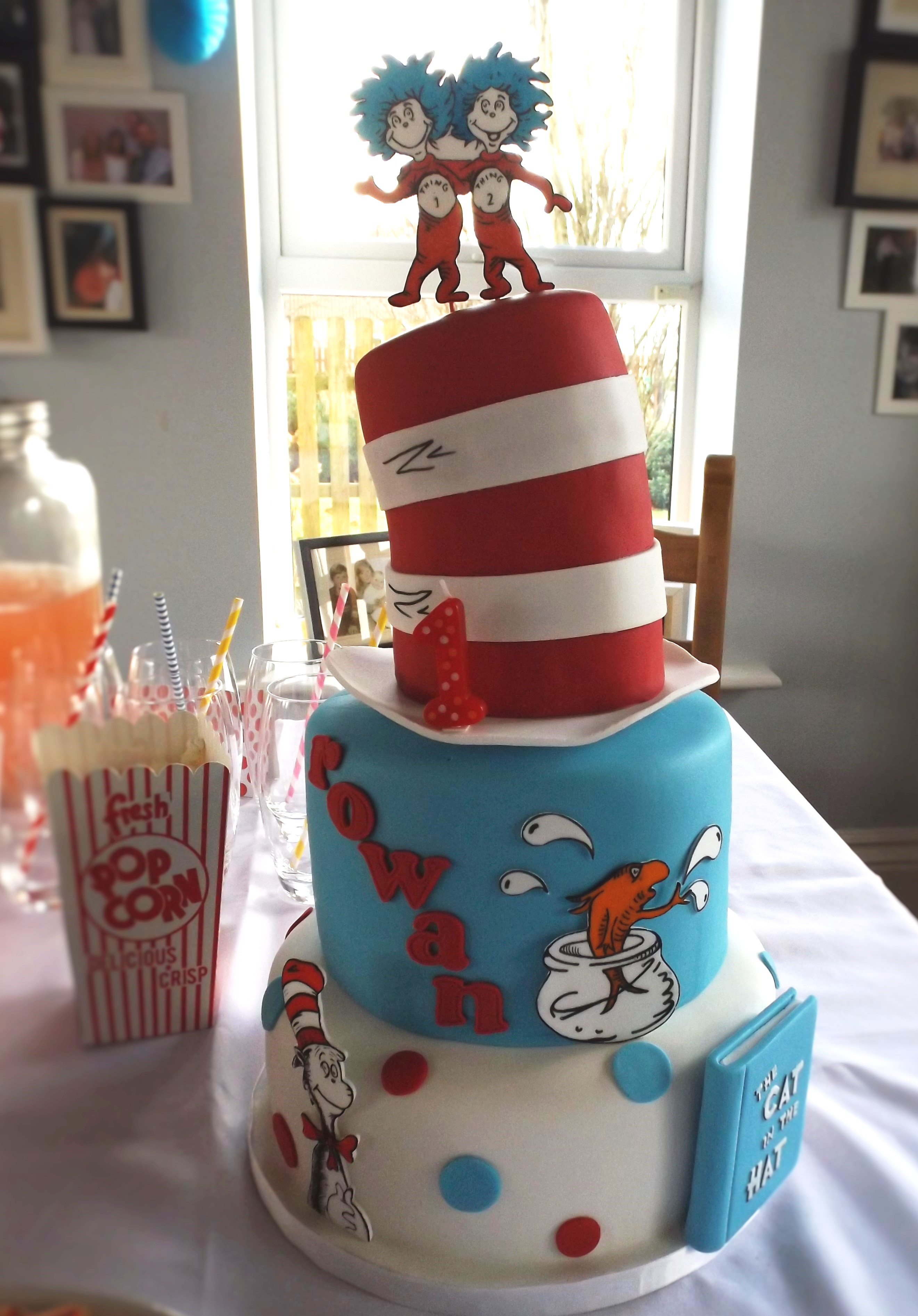 Swell Dr Seuss Themed First Birthday Party Rowan Turns One Funny Birthday Cards Online Aeocydamsfinfo