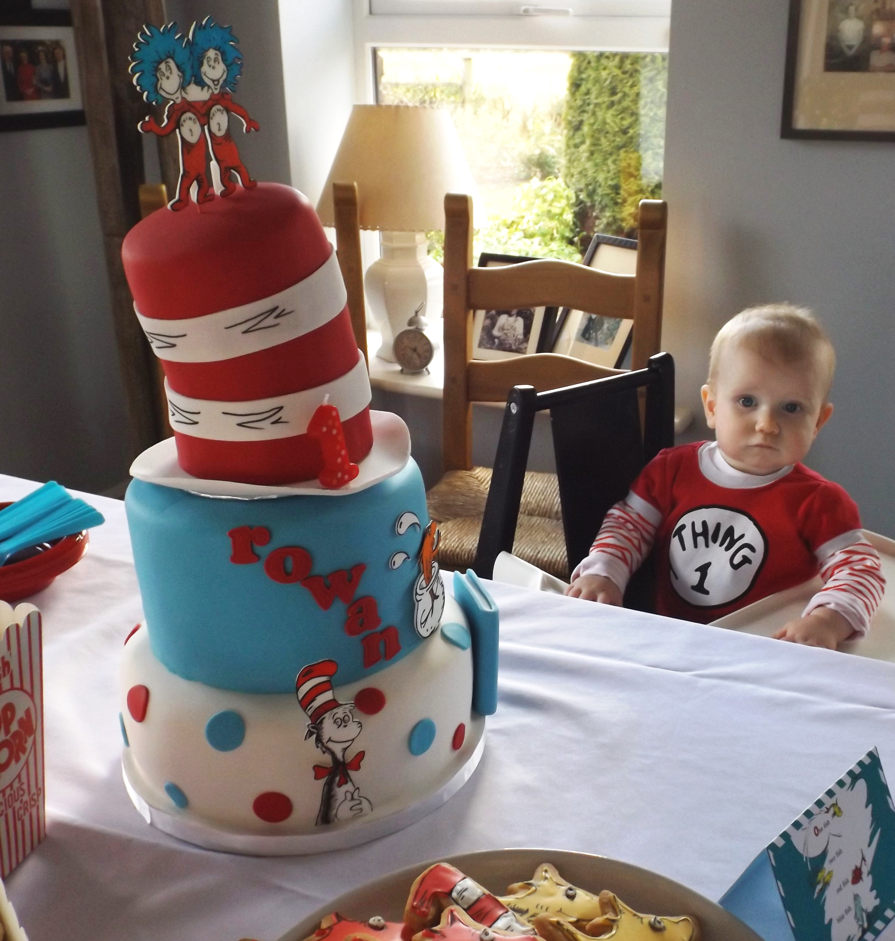 Astounding Dr Seuss Themed First Birthday Party Rowan Turns One Funny Birthday Cards Online Aeocydamsfinfo