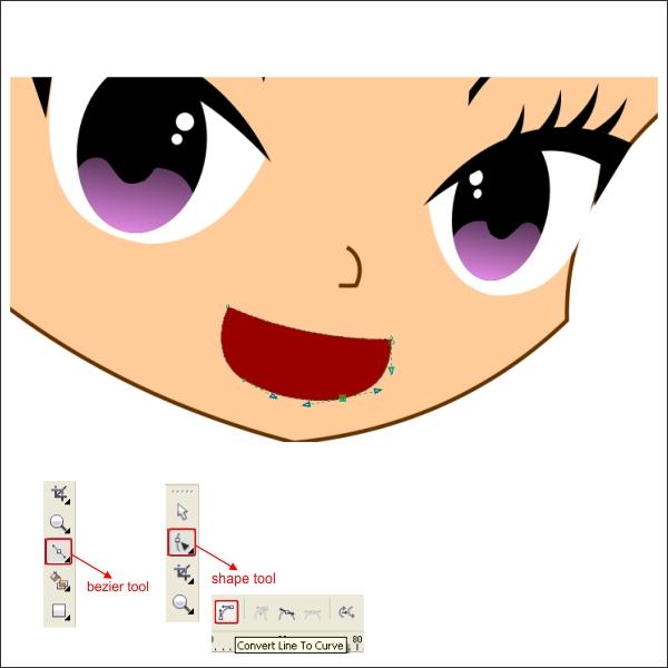 Character Design Tutorial In Coreldraw : Drawing an anime cartoon in corel draw design tutorial