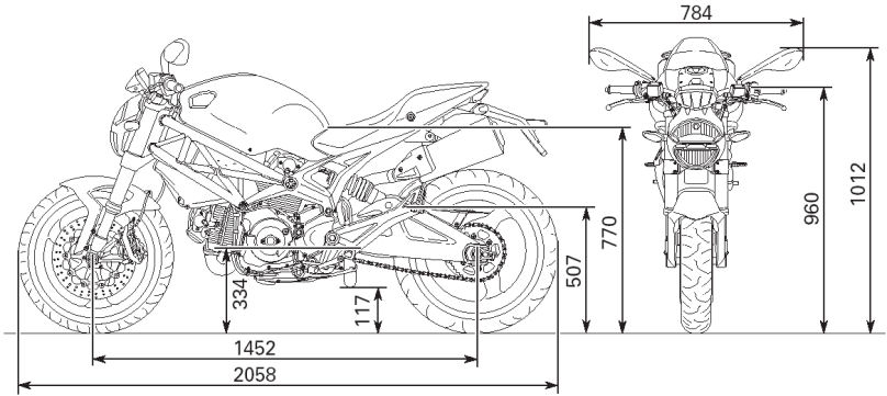 Ducati Monster Dimensions