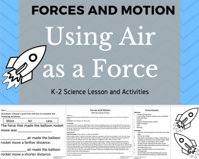 Air as a Force Lesson and Activity - Free
