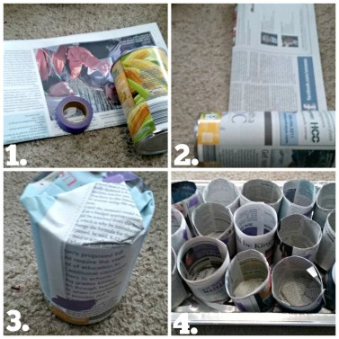 Easy DIY Newspaper Seed starting pots! Great ideas for starting your Spring Garden!