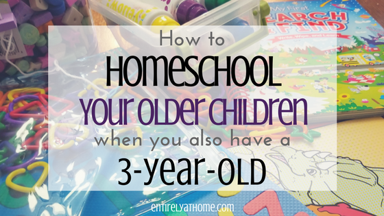 Need help figuring out what to do with your younger children while homeschooling? Click and read some great tips and activities that will help!