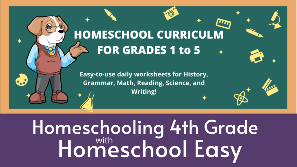 medium resolution of Homeschooling 4th grade with Homeschool Easy — Entirely at Home