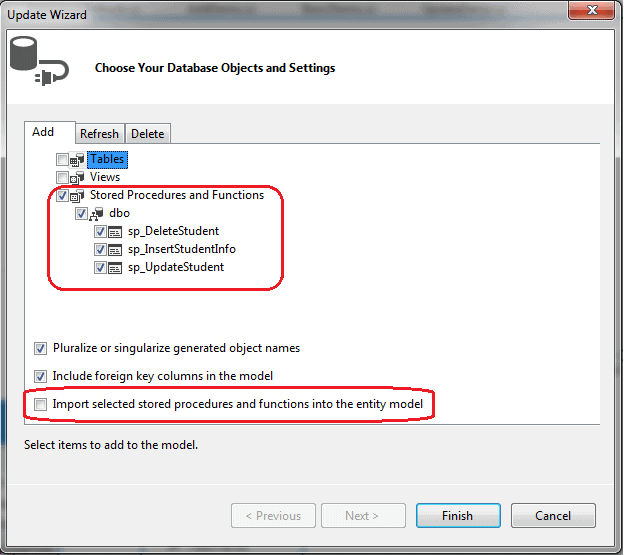 Entity Framework stored procedure