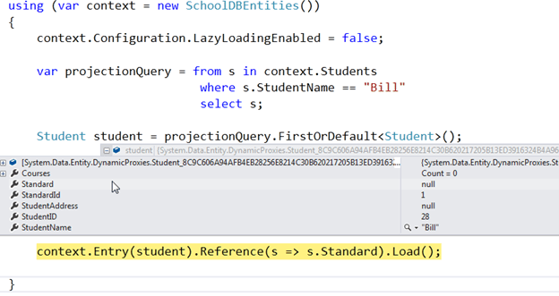 Entity Framework tutorial 4.3 dbcontext