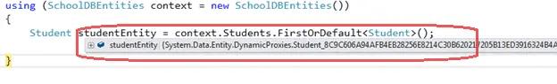 dynamic proxy entity in entity framework