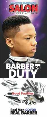 Barbing salon banner