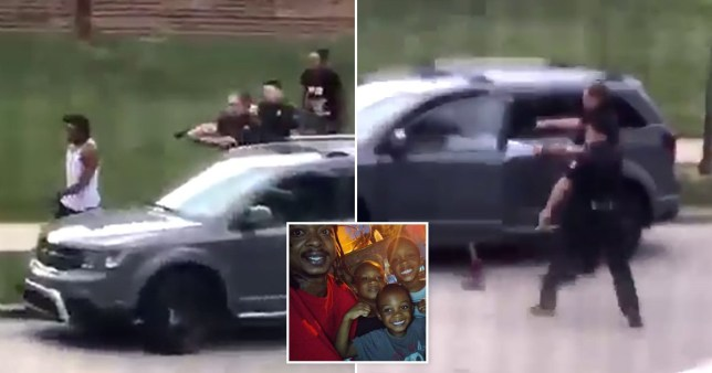 America Police shoots unarmed black man multiple times before of his kids