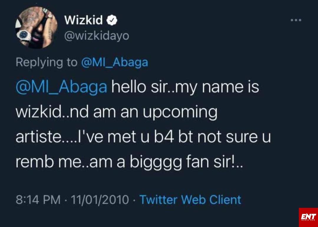 Wizkid MI's tweet