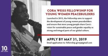 Application At Cora Weiss Fellowship 2019