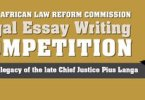 South African Law Reform Commission Legal Essay Writing Competition 2020