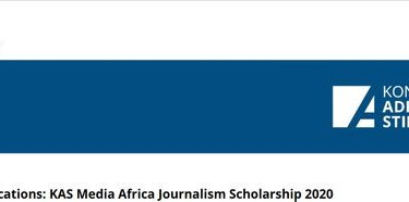 Apply For Konrad- Adenauer -Stiftung (KAS) Media Africa Scholarship 2020 African journalist (Fully Funded to study in South Africa)