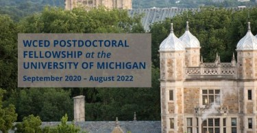 Weiser Center for Emerging Democracies Postdoctoral Fellowship 2020 | University of Michigan