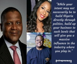 entrepreneurs should be in nigerian politics