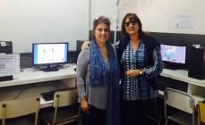 Prof. Marta Saguar, Lic. Cristina Rodrigues
