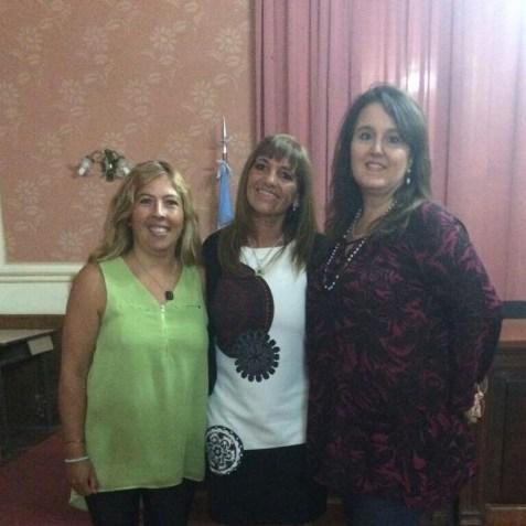 Prof Viviana Ramirez, Lic Rodrigues Cristina y Prof. Fabiana Claret
