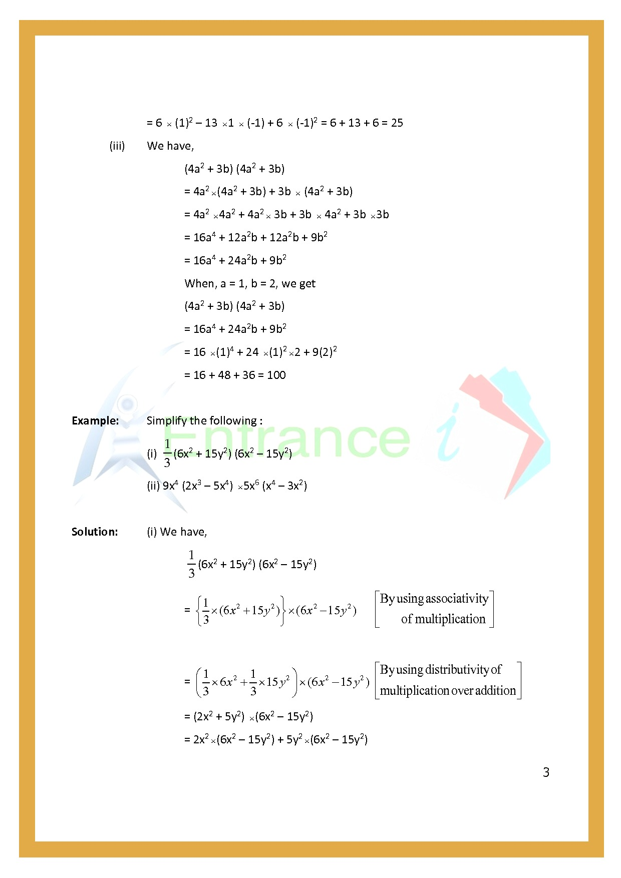 Worksheet For Class 7 Maths For Chapter 3 Algebraic Expression