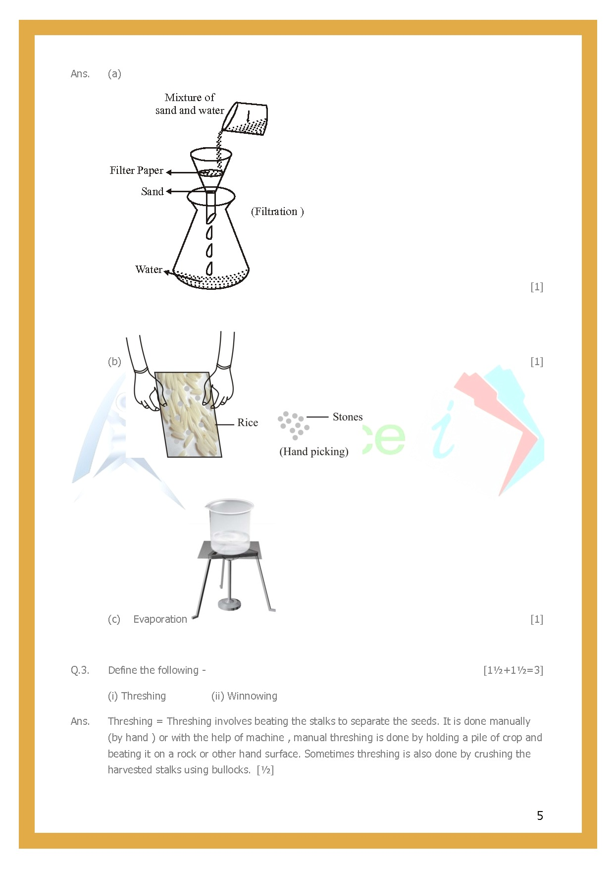 Class 6 Science Worksheets Chapter 5 Separation Of Substances