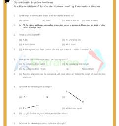 Worksheet-2 for chapter Understanding Elementary Shapes class 6 Maths [ 1754 x 1240 Pixel ]
