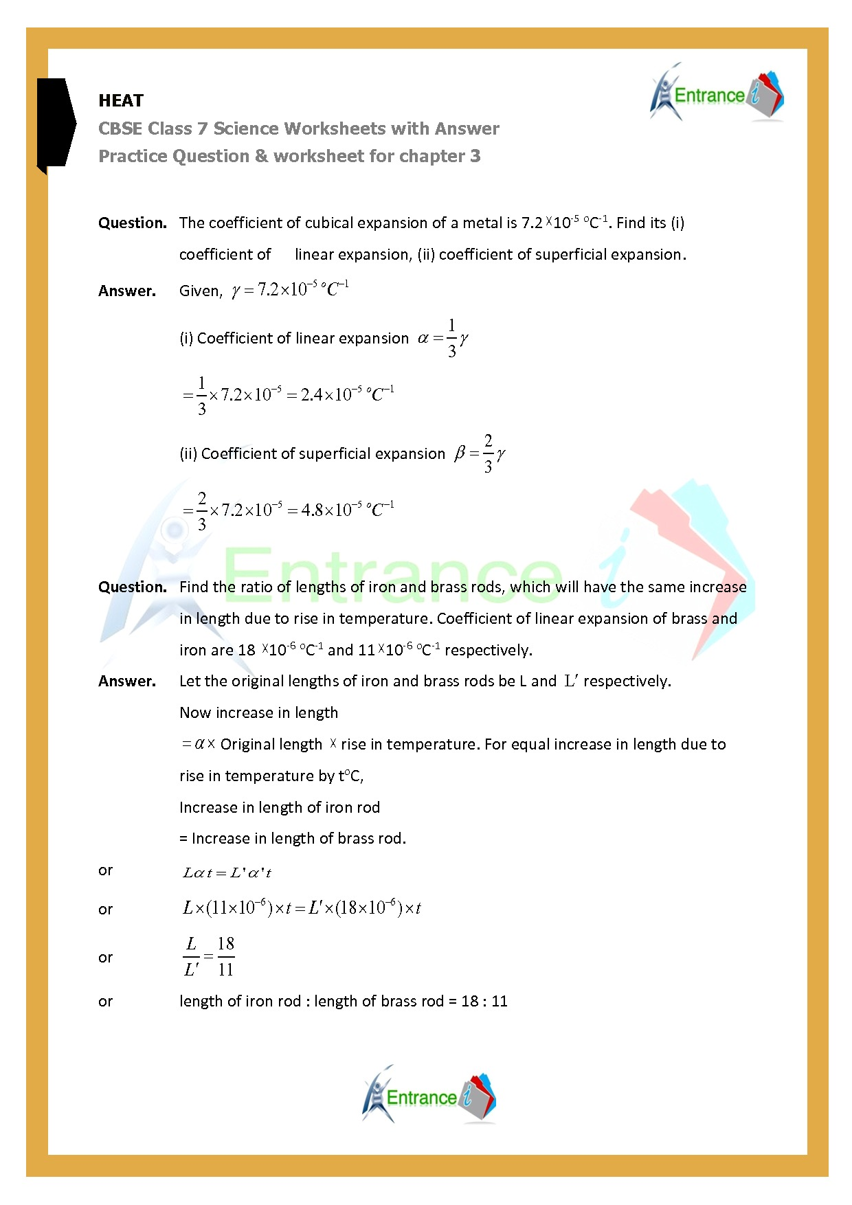 Class 7 Science Worksheet With Detail Solution Worksheet 2