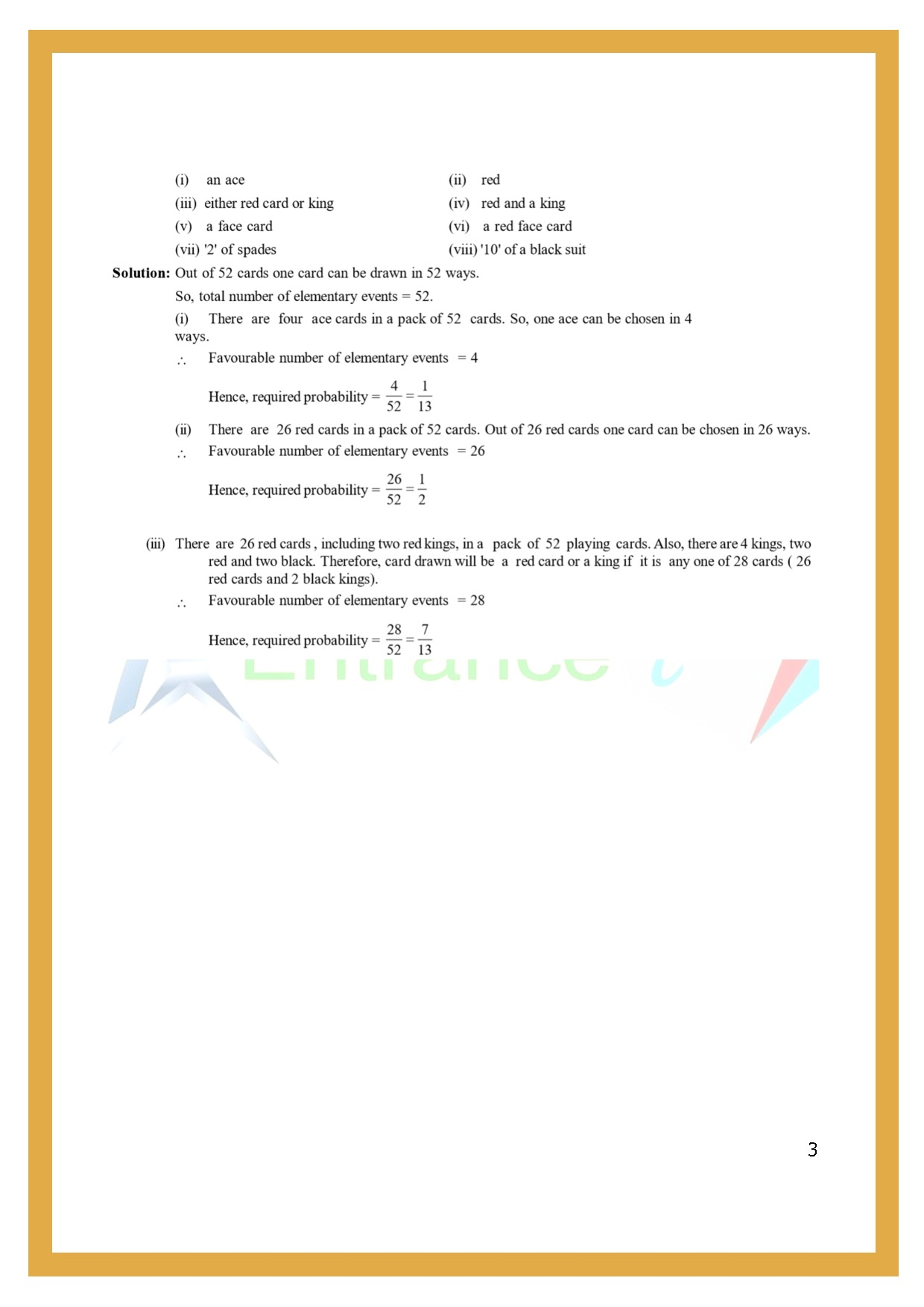 Worksheet For Class 7 Maths For Chapter 8 Probability