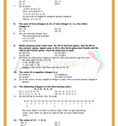 Worksheet-1 for chapter Integers class 6 Maths   Entrancei [ 1754 x 1240 Pixel ]